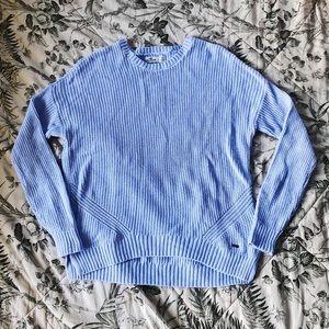 Hollister light/baby blue knit sweater